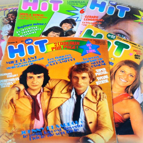 HIT - LOT X5 Revues 1973/1974 - Johnny Halliday Claude Francois Sardou Vartan Sheila Cloclo