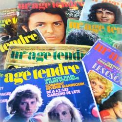 Mlle Age Tendre - LOT X8 Revues - 1971 - Vintage Rare Podium Salut les copains