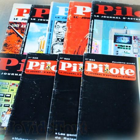 Pilote - LOT X9 Revues - 1966/67 Le Journal D'Astérix /GOTLIB / UDERZO / GOSCINNY /GREG