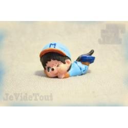Kiki (Monchichi) - Kiki Baseball - Bully - 1979 - Figurine Vintage - Rare - Calin Matin