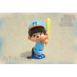 Kiki (Monchichi) - Kiki Baseball - Bully - 1979 - Figurine Vintage - Rare - Calin Matin
