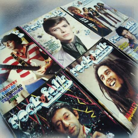 Rock and Folk - LOT X6 Revues 1979/80 - Mc Cartney Bowie Bob Marley Vintage Rare Podium