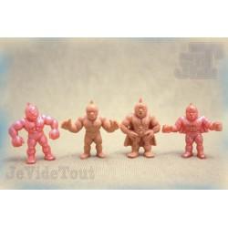 Muscleman - LOT X4 - Figurine Vintage - Trés Rare - Club Dorothée