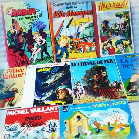 LOT 9 BD Vintage - 1950/60/70 - Edition Original EO - Edition Publicitaire - Total/Esso/Elf