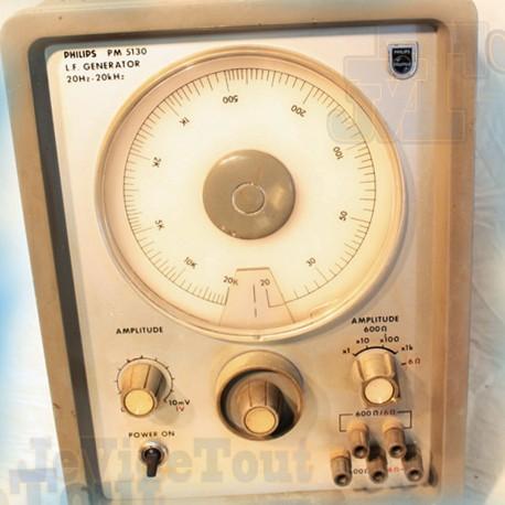 Philips - Vintage - LF Générator - 20hz--20Khz - Modèle PM 5130 - 60's