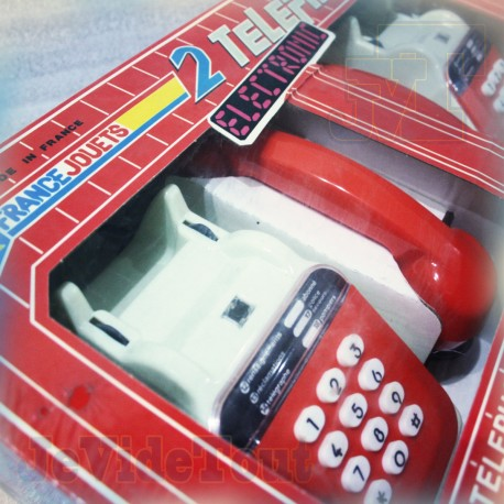 2 Téléphones 3000 Electronic - France Jouets - NEUF SCELLÉ - Jouet Vintage 80'S