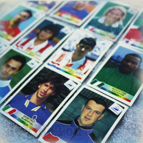 France 98 - Lot X13 Autocollants Stickers Panini France Vintage FOOT 1998
