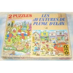 Plume D'Elan - Puzzle X2 - 1979 - TF1 - Belokapi - Christophe Izard - Rare