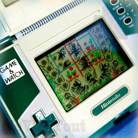 Game And Watch - Green House - 1982 - Nintendo Jeu Electronique Vintage 80'S
