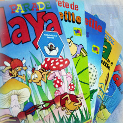 LOT X5 BD Vintage - Maya L'abeille 70/80 - RARE Récré A2 Dorothée Visiteurs du mercredi