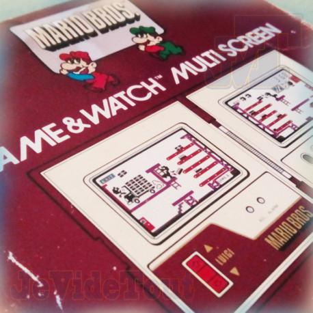 Game And Watch - Mario Bros - 1983 - Nintendo - BOITE/JEU Version FRANCE - RARE - Jeu Electronique Vintage 80'S