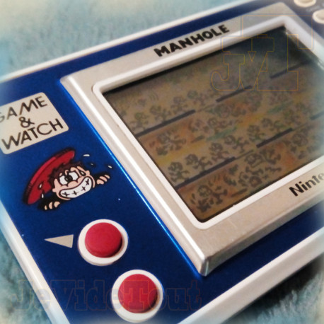 Game And Watch - Manhole - 1983 - RARE - Nintendo Jeu Electronique Vintage 80'S