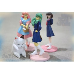 Lamu - LOT X4 - Collection Figurine Rare - Japan - TF1 - Club Dorothée - Urusei Yatsura