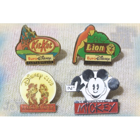 Disney - Pin's - LOT X4 - Vintage - Rare - 80's 90's