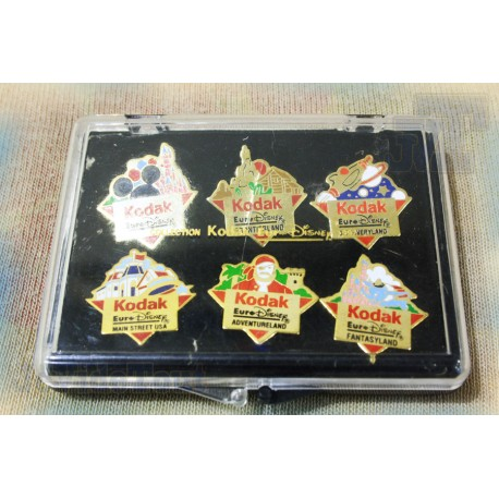 Pin's - Kodak - Collection Euro Disney 1992 - Complet - Vintage - Rare - Pub 80's 90's