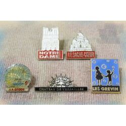 Pin's - Paris - Lieux - LOT X5 - Vintage - Rare - Pub 80's 90's