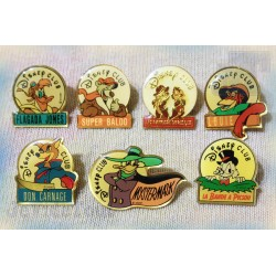 Disney Club - Pin's - LOT X8 - Arthus Bertrand - Vintage - Rare - 80's 90's