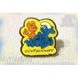 Pin's - Pub Vintage - Walibi - Schtroumpf - Publicité Rare - Pub 80's 90's
