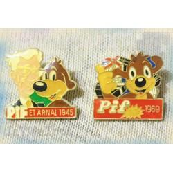 Pin's - Pub Vintage - LOT X2 - Pif Gadget - Publicité Rare - Pub 80's 90's