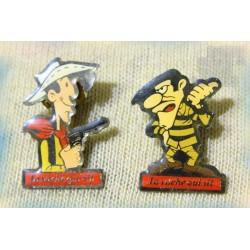 Pin's - Pub Vintage - LOT X2 - Lucky Luke - Vache Qui Rit - Pub 80's 90's