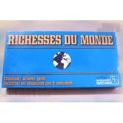 Les Richesses Du Monde - 1982 - Jeu de Société - Nathan - Vintage