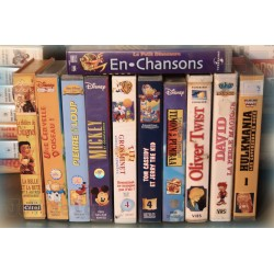 LOT VHS ANIME VINTAGE X11 - Disney - Hulkmania - Titi - Tom Jerry ..