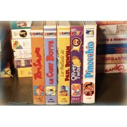 LOT X5 VHS 80/90 - DESSIN ANIME RARE - Vieux Contes - VINTAGE