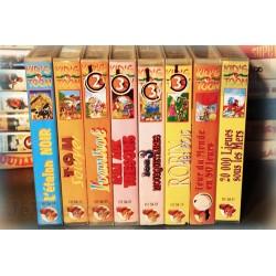 LOT X8 VHS 80/90 - DESSIN ANIME RARE - Vieux Contes - VINTAGE