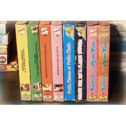 LOT X8 VHS 80/90 - VIEUX DESSIN ANIME RARE - VINTAGE