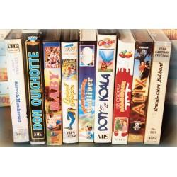 LOT X9 VHS 80/90 - DESSIN ANIME VINTAGE - Vieux Longmètrages