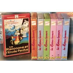 LOT X7 VHS 80/90 - DESSIN ANIME VINTAGE - Les Raccoons - Les Ratons laveurs