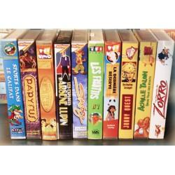 LOT X10 VHS 80/90 - DESSIN ANIME VINTAGE - Divers Episodes - Longmetrage - RARE