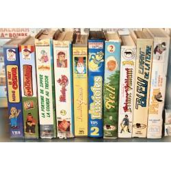 LOT X10 VHS 80/90 - DESSIN ANIME VINTAGE - Divers Episodes - Luxioles - Pitou .. - Club Dorothée - RARE