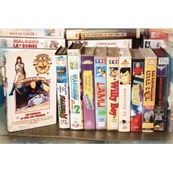 LOT X10 VHS 80/90 - DESSIN ANIME VINTAGE - Episodes - Galaxy Rangers - Lamu - Gobots.. - Club Dorothée - RARE