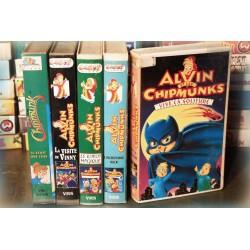 LOT X5 VHS 80/90 - DESSIN ANIME VINTAGE - Alvin et les Chipmunks - Club Dorothée - RARE