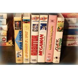 LOT X6 VHS 80/90 - DESSIN ANIME VINTAGE - Bulle sous les mers - Robotor - Star Force.. RARE