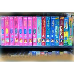 LOT X16 VHS 80/90 - DESSIN ANIME VINTAGE DISNEY - Wuzzles - Petite Sirène - Gummi.. Dorothée
