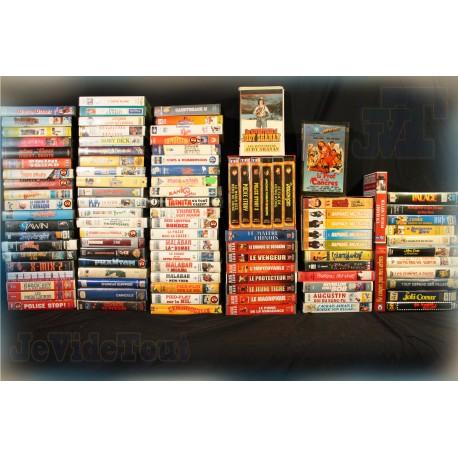 GROS LOT 100 VHS FILM RARE VINTAGE 70/80/90 VHS RARES et TRES RARES